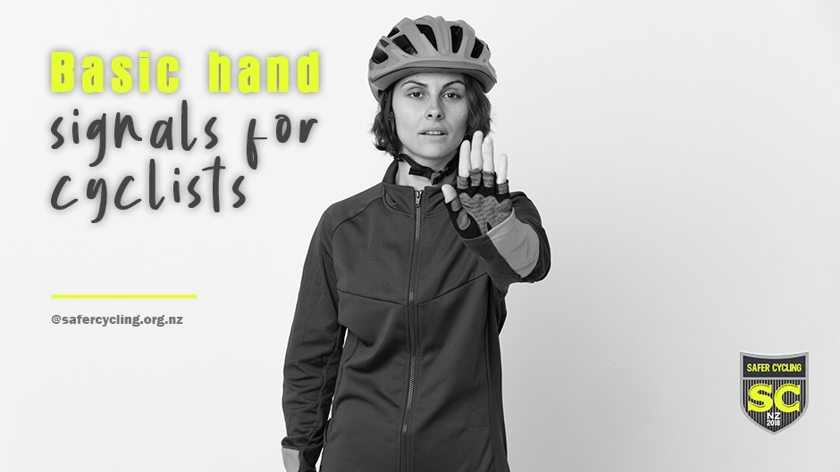 Basic hand signals for first-time cyclists