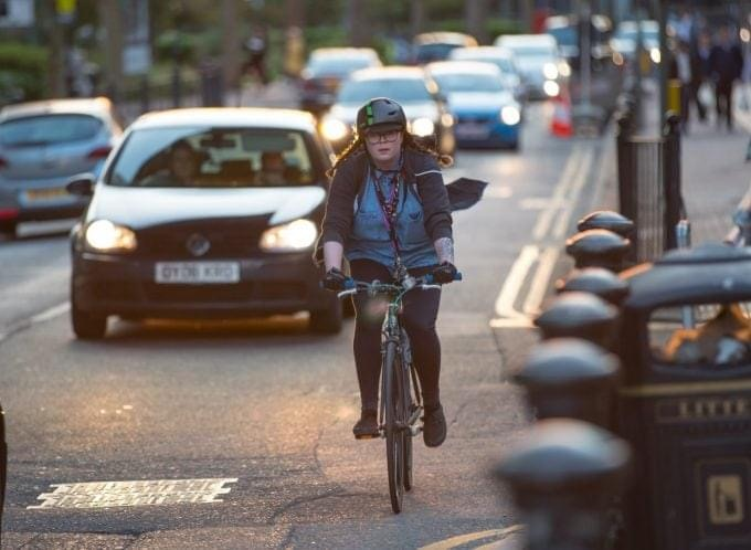 Cars and bicycles have the same rights and follow the same rules – but they are not equals.